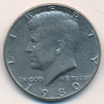 США, 1/2 доллара (1980 г.)