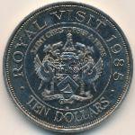 Острова Сент-Кристофер и Невис, 10 долларов (1985 г.)