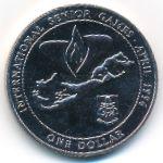 Бермудские острова, 1 доллар (1996 г.)