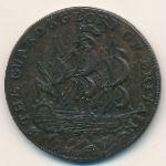 Хэмпшир, 1/2 пенни (1795 г.)