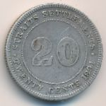 Стрейтс-Сетлментс, 20 центов (1891 г.)