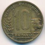 Аргентина, 10 сентаво (1944–1948 г.)