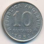 Аргентина, 10 сентаво (1952–1953 г.)
