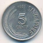 Сингапур, 5 центов (1971 г.)