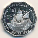 Белиз, 1 доллар (1990 г.)