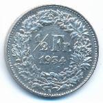 Швейцария, 1/2 франка (1934 г.)