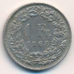 Швейцария, 1 франк (1968 г.)