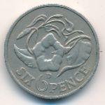 Замбия, 6 пенсов (1964 г.)