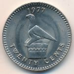 Родезия, 20 центов (1975–1977 г.)