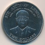 East Caribbean States, 2 dollars, 1993