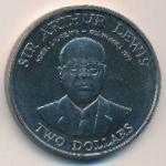 Восточные Карибы, 2 доллара (1993 г.)
