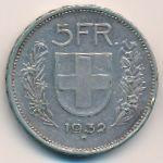 Швейцария, 5 франков (1932 г.)