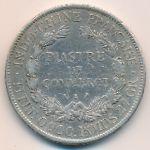 Французский Индокитай, 1 пиастр (1907 г.)