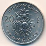 Французская Полинезия, 20 франков (1975 г.)