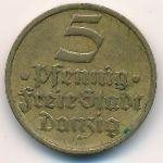 Данциг, 5 пфеннигов (1932 г.)