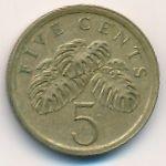 Сингапур, 5 центов (1987 г.)