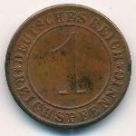 Веймарская республика, 1 рейхспфенниг (1930 г.)