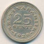 Эстония, 25 сентов (1928 г.)