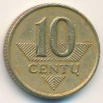 Литва, 10 центов (1997 г.)
