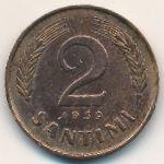Латвия, 2 сантима (1939 г.)