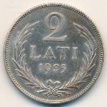 Латвия, 2 лата (1925–1926 г.)