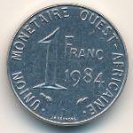 Западная Африка, 1 франк (1984 г.)