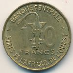 West African States, 10 francs, 1959–1964