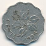 Свазиленд, 5 центов (1996–2010 г.)