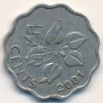 Свазиленд, 5 центов (1998–2010 г.)