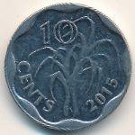 Свазиленд, 10 центов (2015 г.)