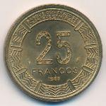 Экваториальная Гвинея, 25 франков (1985 г.)