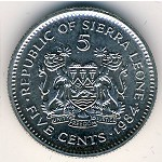 Sierra Leone, 5 cents, 1980–1984