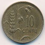 Литва, 10 центов (1925 г.)