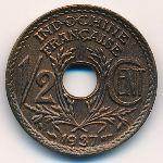 Французский Индокитай, 1/2 цента (1937 г.)