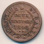 Гаити, 2 сентима (1846 г.)