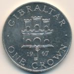 Гибралтар, 1 крона (1967 г.)