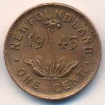Ньюфаундленд, 1 цент (1943 г.)