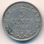 Ньюфаундленд, 5 центов (1941 г.)