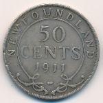 Ньюфаундленд, 50 центов (1911–1917 г.)