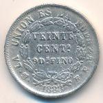 Боливия, 20 сентаво (1882–1883 г.)
