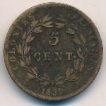 Французские колонии, 5 сентим (1830 г.)