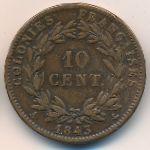 Французские колонии, 10 сентим (1843 г.)