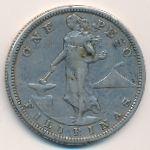 Филиппины, 1 песо (1907 г.)
