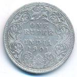Британская Индия, 1 рупия (1901 г.)