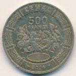 Центральная Африка, 500 франков КФА (2006 г.)