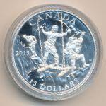 Канада, 15 долларов (2015 г.)