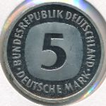 ФРГ, 5 марок (1975–1997 г.)