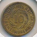 Веймарская республика, 10 рентенпфеннигов (1923 г.)