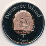 Diomede Islands, 1 cent, 2015