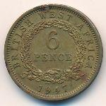 Британская Западная Африка, 6 пенсов (1947 г.)